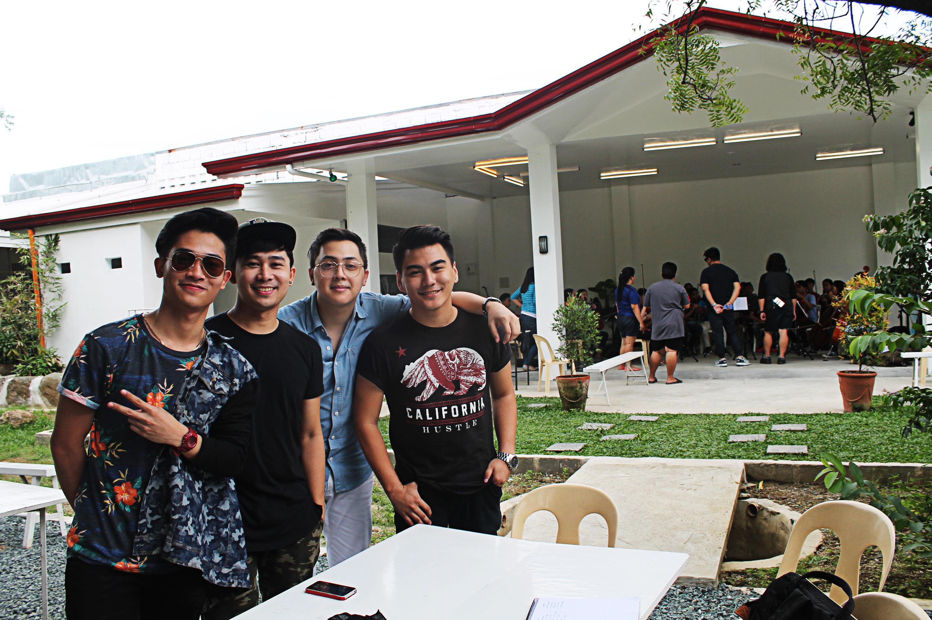 Freshmen boy group at the rehearsal