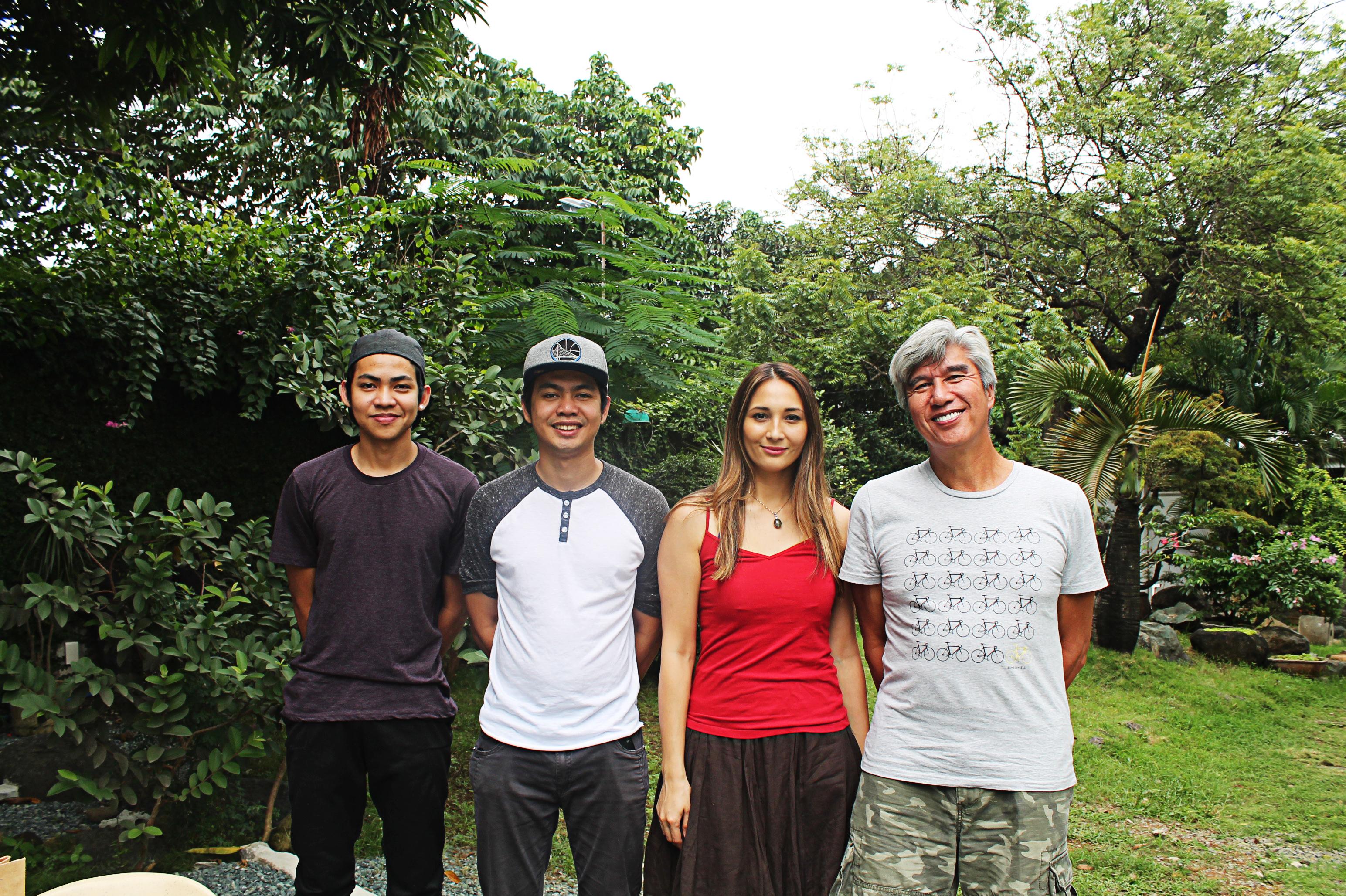 CW Music Filipino teachers Aldrix Aniceto, Allen Aniceto, Christine White and Joel Uichico, founder of Bikes for the Philippines