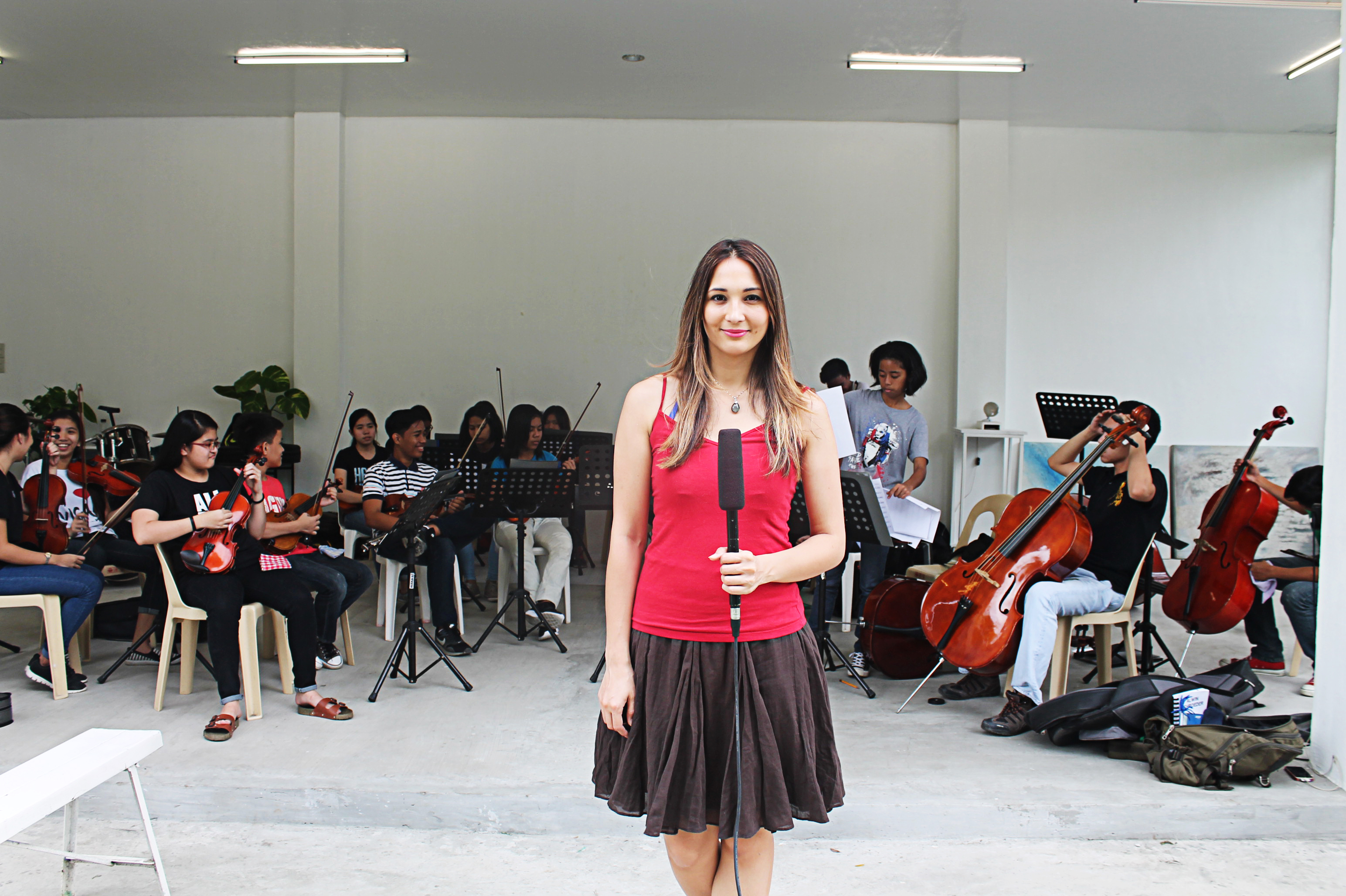 Christine Adela White at Tiamson Heritage in Angono, Rizal for the event's rehearsal.