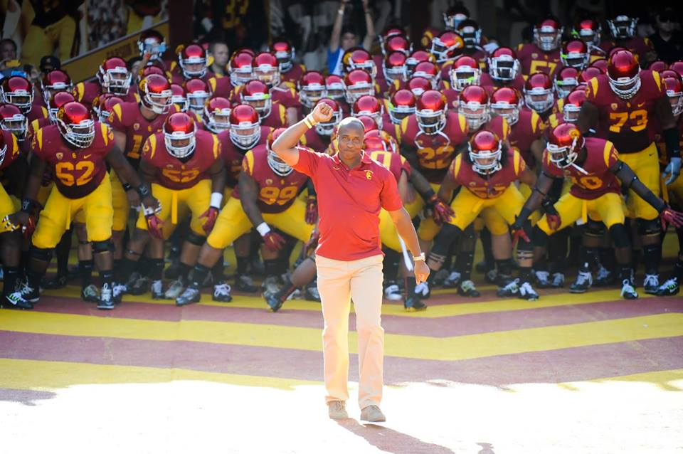 USC Football team (Photo from USC Trojans' Facebook account)