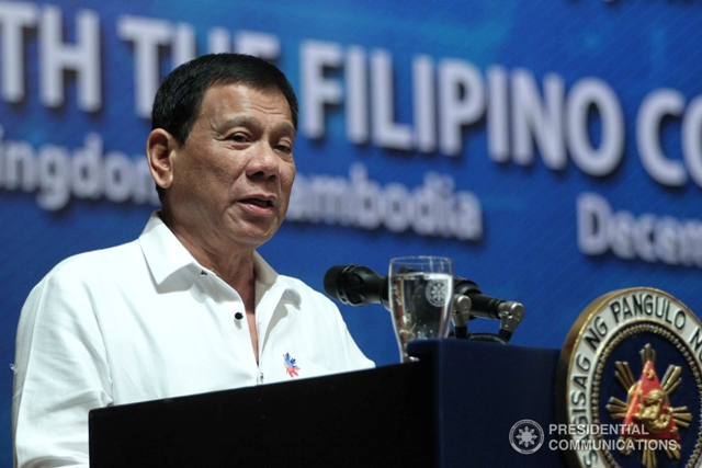The agency has clearly not voted to scrap or approve the aid package, but Duterte unleashed an expletives-laden tirade upon his arrival in his southern hometown of Davao after back-to-back visits to Cambodia and Singapore. (PCO photo)