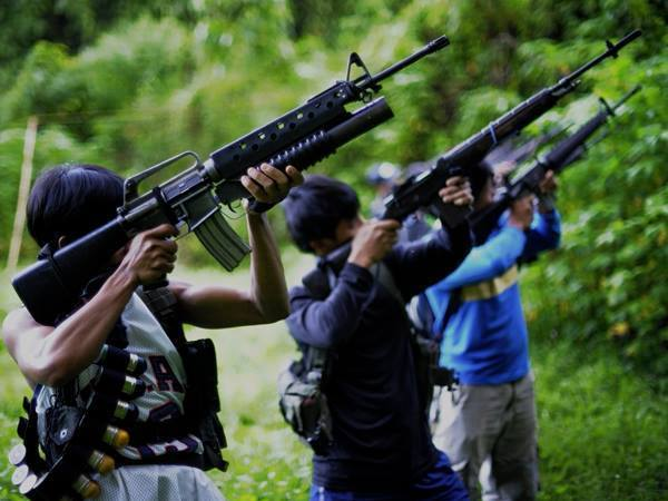 Two soldiers and three communist rebels were killed while 15 other troops were wounded in a land mine attack and clashes in the southern Philippine city of Davao, President Rodrigo Duterte's hometown, a military official said Friday.  (Photo: Philippine National Front/Favebook)