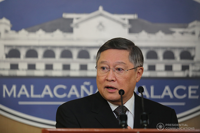 Finance Secretary Carlos Dominguez III on Friday said the erring cigarette company found using fake tax stamps needs to correct its violation and pay its taxes. (Photo: KING RODRIGUEZ/ Presidential Photo)