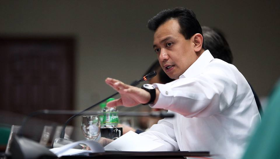 "Sen. Antonio Trillanes IV first alleged Duterte had unexplained wealth during the presidential campaign last year. He told a news conference Thursday that he was raising the issue again because Duterte has not yet bared details of the more than 2 billion pesos ($40 million) he allegedly kept in bank accounts as a former city mayor. (Photo: Antonio ""Sonny"" Trillanes IV/ Facebook)"