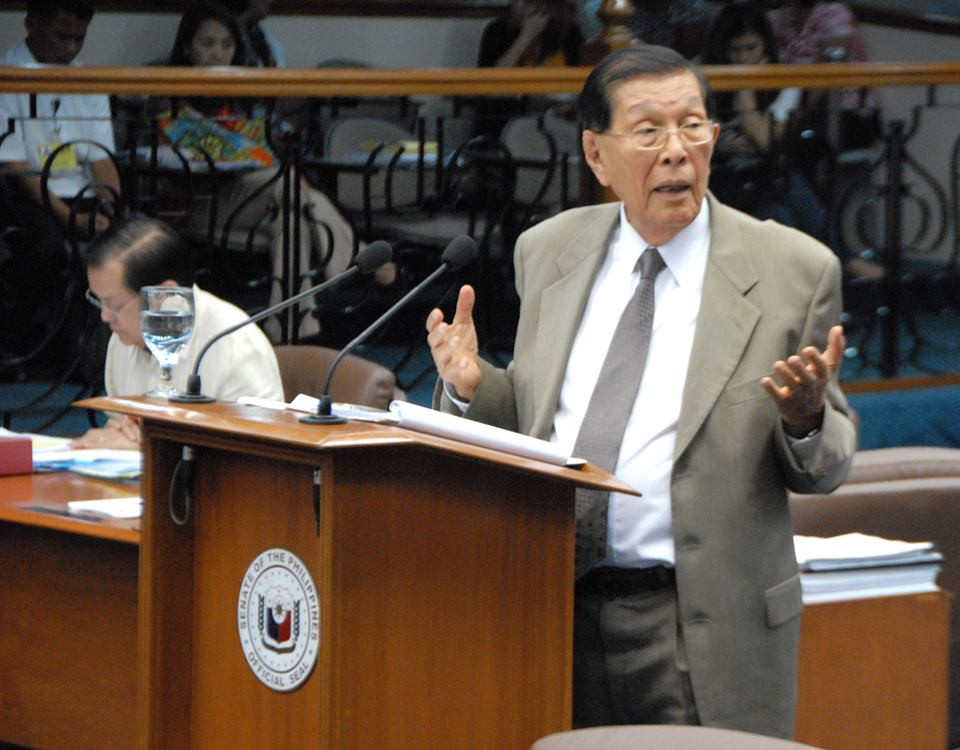 One of the prime movers of the EDSA 1 People Power Revolt in 1986 sees nothing wrong with President Rodrigo Duterte's decision to hold simple rites and activities honoring the event. (Photo: Juan Ponce Enrile/Facebook)