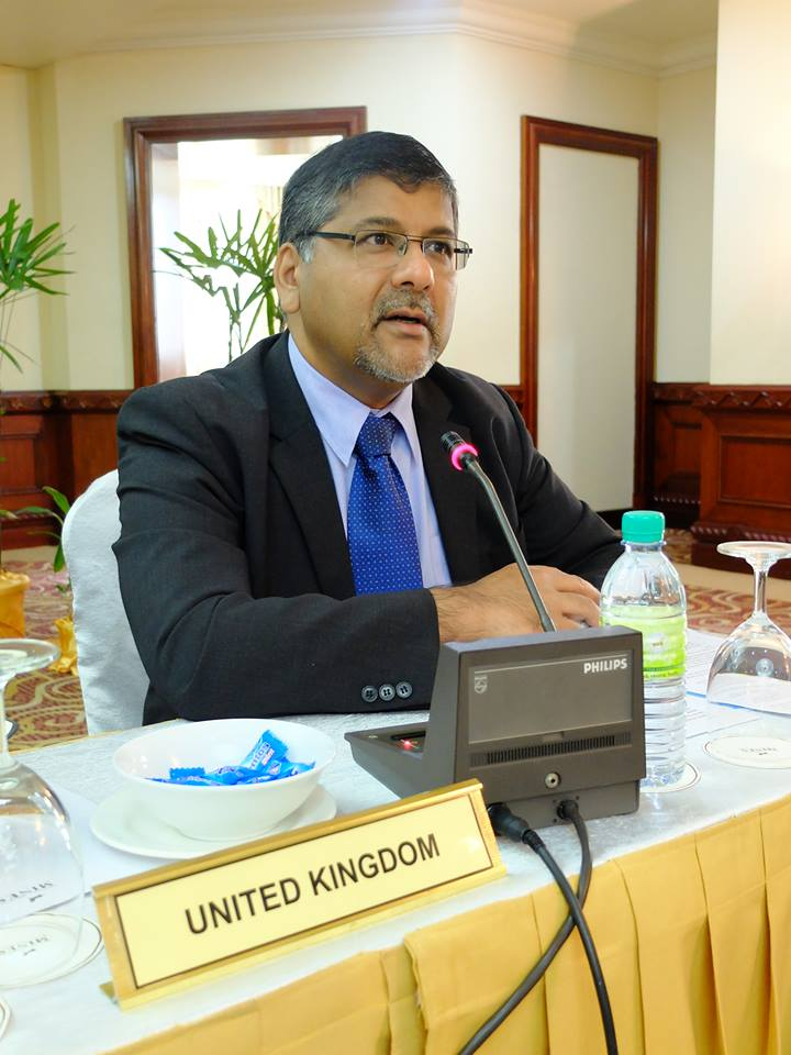 Bringing back the death penalty in the system can affect the interest of British businesses to invest in the Philippines, United Kingdom Ambassador to the Philippines Asif Ahmad told reporters. (Photo; Office of the Presidential Adviser on the Peace Process/Facebook)
