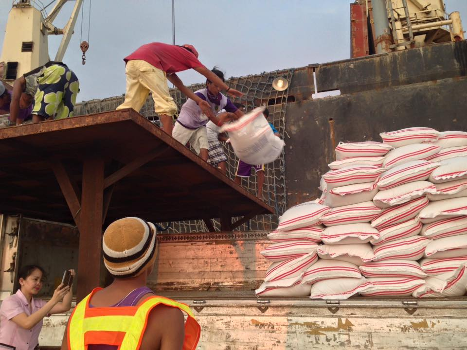 The NFA released 200 bags of rice requested by the local government unit (LGU) of Surigao del Norte for its relief operations after the 6.7-magnitude earthquake hit the province on Feb. 10. (Photo: National Food Authority/ Facebook)