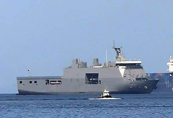With four gunboats now helping in the Surigao City relief efforts, there is still no need to deploy the Philippine Navy (PN)'s largest ship,the BRP Tarlac (LD-601), in the ongoing mercy missions in quake-affected areas.(Photo: Philippine Military Assets/Facebook)