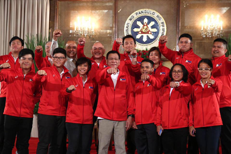 """Demonstrating solidarity and understanding through sports, the Philippines will participate in the 29th Southeast Asian Games """"Rising Together Baton Run."""" (Photo: Hidilyn Diaz/ Facebook)"""
