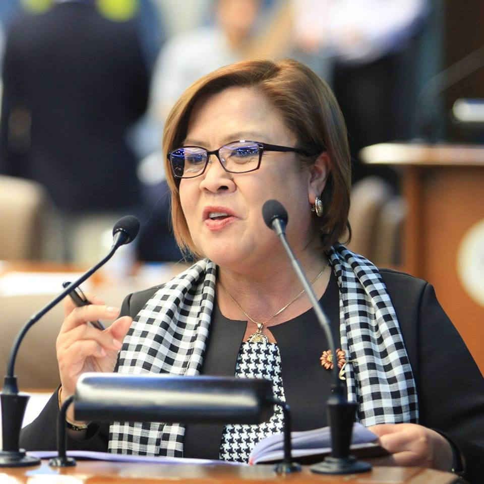 """Well, I really don't know when an arrest warrant will be issued. But Sec. Aguirre has confirmed that the resolution (for the warrant of arrest) would be released very, very soon. And then he had statements like 'she should better brace herself for an arrest,'"" De Lima said. (Photo: Leila De Lima/ Facebook)"