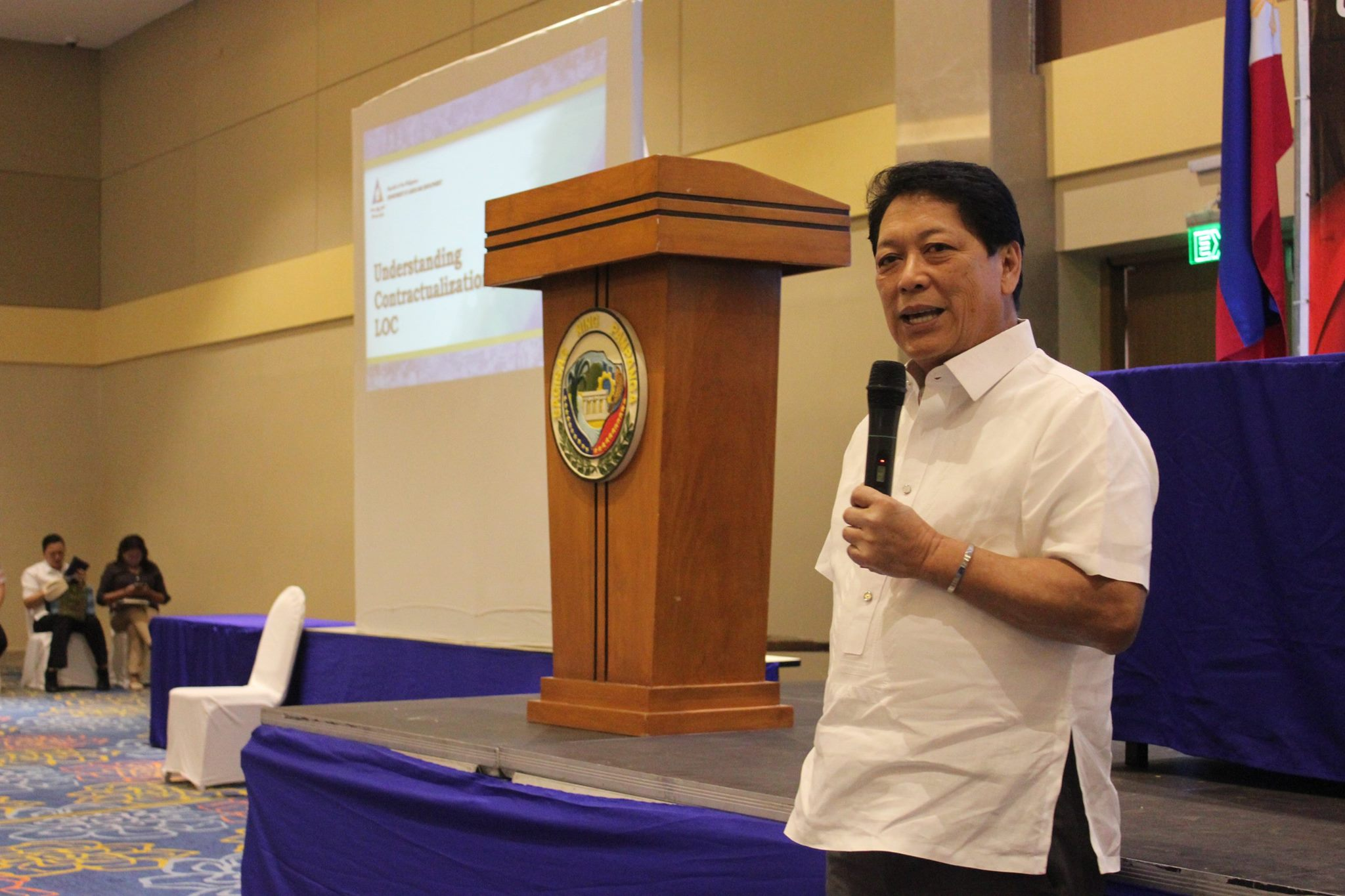 Government of the Republic of the Philippines (GRP) Peace Panel Chief Negotiator Secretary Silvestre Bello III on Tuesday said efforts to achieve lasting peace continue despite the recent attacks of the New People's Army (NPA) in North Cotabato and Abra. (Photo: DOLE Central Luzon/Facebook)