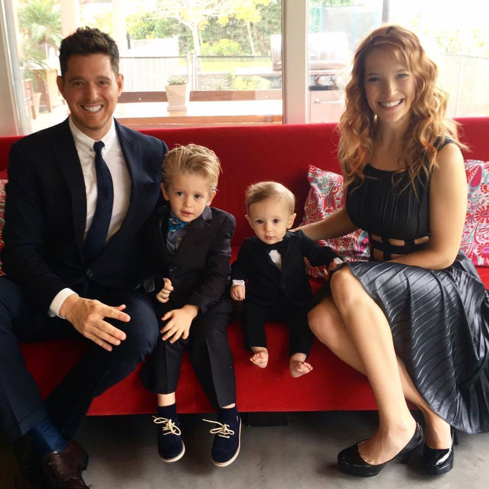 "Canadian crooner Michael Buble says his three-year-old son Noah is ""progressing well"" as he undergoes treatment for cancer. (Photo: Michael Bublé/Facebook)"