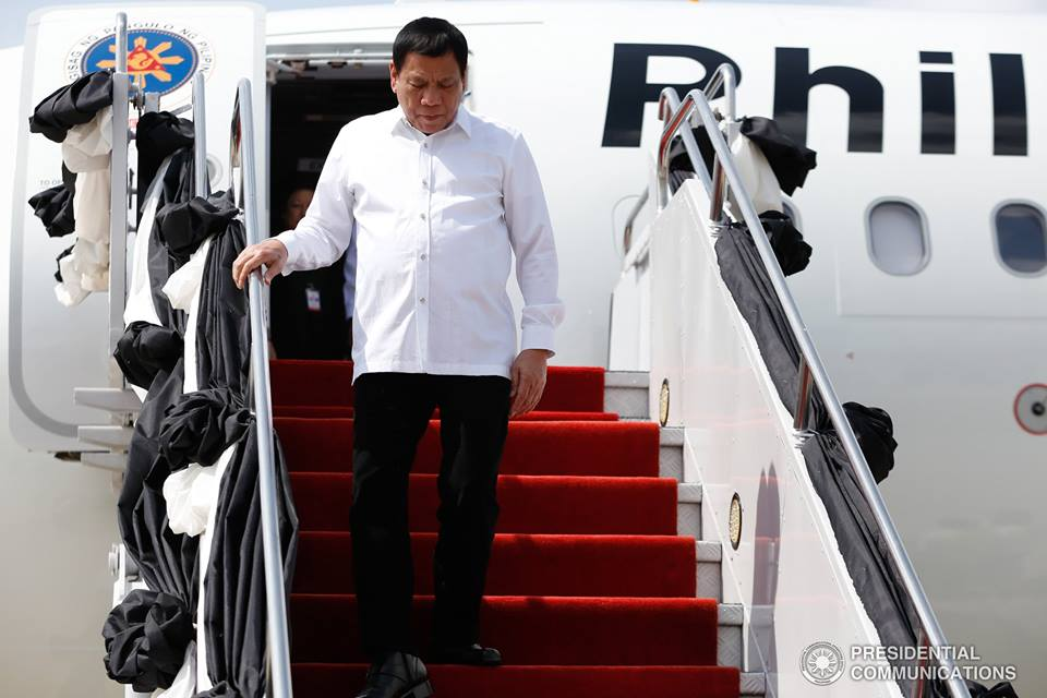 The President made seven international trips to 12 countries since he took office last year. These included Brunei, Laos, Indonesia, Vietnam, China, Japan, Thailand, Malaysia, Peru, New Zealand, Cambodia and Singapore. (Photo: Presidential Communications (Government of the Philippines)/ Facebook)