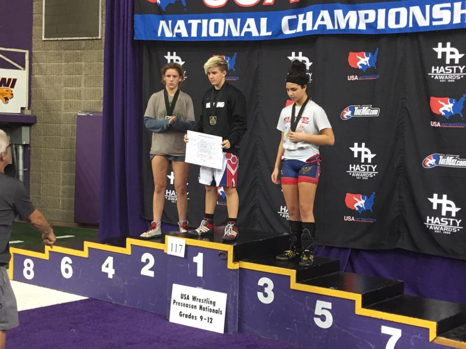 Beggs, who reached the state tournament after two opponents forfeited, was dogged throughout the tournament by questions about whether his testosterone treatments made him too strong to wrestle fairly against girls. (Photo: Euless Trinity Wrestling/ Facebook)