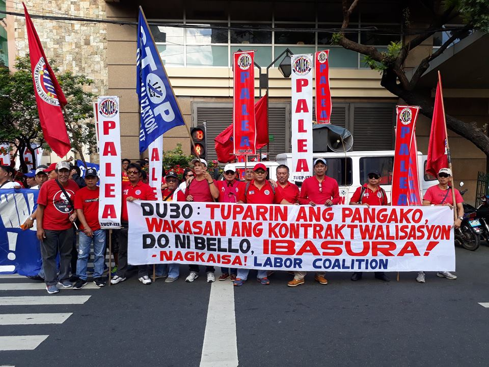 A coalition of labor organizations is optimistic that their meeting with President Rodrigo Duterte will be a fruitful one. (File Photo: The TUCP PARTY LIST/ Facebook)