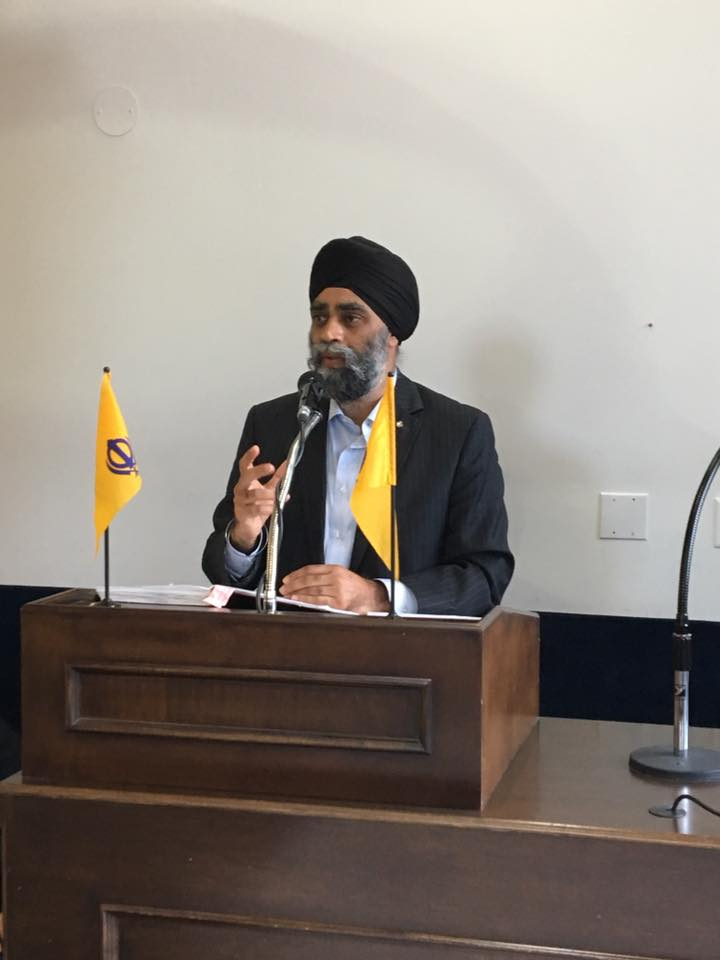 "Defence Minister Harjit Sajjan says he has ordered officials to look at how Canada calculates military spending compared to other NATO members, to ensure all allies are comparing ""apples to apples.""  (Photo: Harjit Sajjan/ Facebook)"