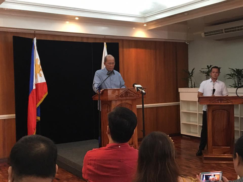 Department of National Defense (DND) Secretary Delfin Lorenzana has urged businesses not to give in to the extortion rackets of the New People's Army (NPA), following a series of NPA attacks against companies that refuse to give in to their demands. (Photo: Delfin Lorenzana/ Facebook)