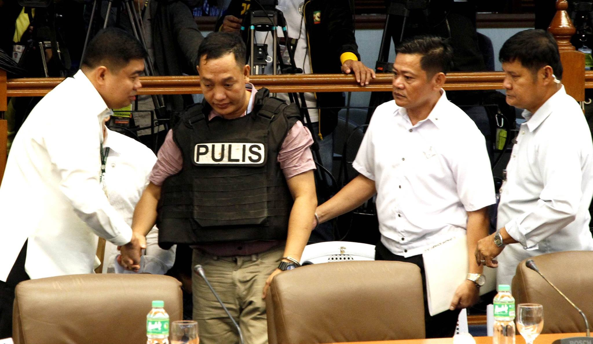 Senior Police Officer 3 (SPO3) Ricky Sta. Isabel on Thursday said that no personnel from National Bureau of Investigation (NBI) was involved in the in the kidnap-slay of South Korean businessman Jee Ick Joo. (Photo: Senate of the Philippines/Facebook)