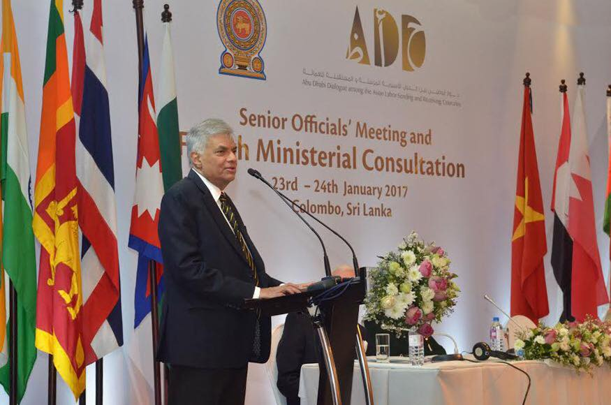 Prime Minister Ranil Wickremesinghe made the comments on Wednesday during a visit to Australia in which he discussed bilateral co-operation on combating people smuggling. No Sri Lankan asylum seeker has reached Australia by boat since 2013. (Photo: Ranil Wickremesinghe/ Facebook)