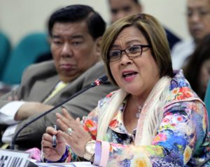 """As a former Secretary of Justice, Senator de Lima should know that the real battle is in the courts. She should do the fighting there, answer all the charges against her there and present credible evidence in her defense there and not in a press conference,"" Aguirre added. (Photo: Leila de Lima/ Facebook)"