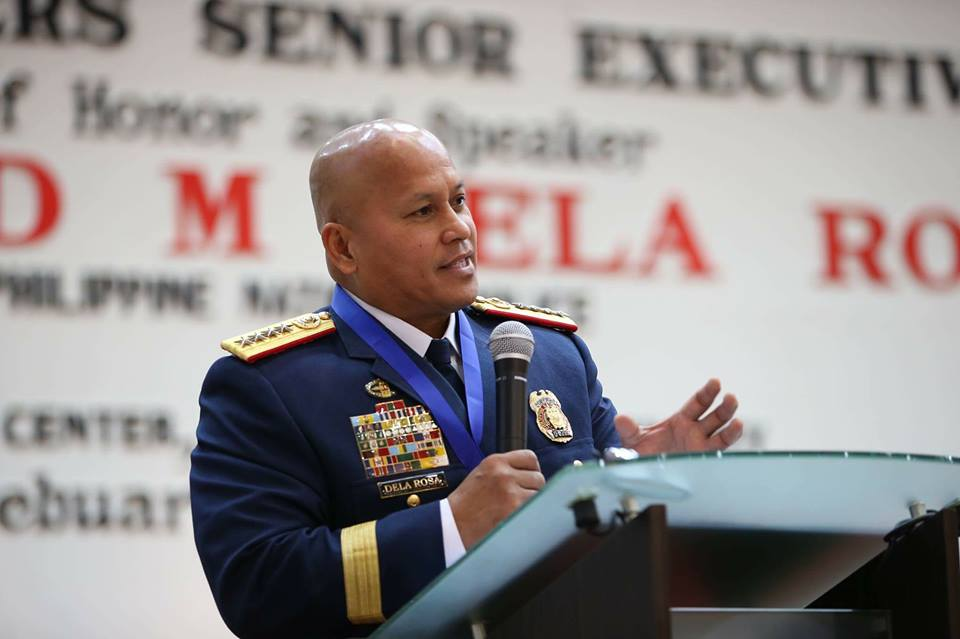 "Philippine National Police (PNP) chief Director General Ronald ""Bato"" Dela Rosa has approved the dismissal from service of 99 policemen who were confirmed positive of drug use. (Photo: Philippine National Police/Facebook)"