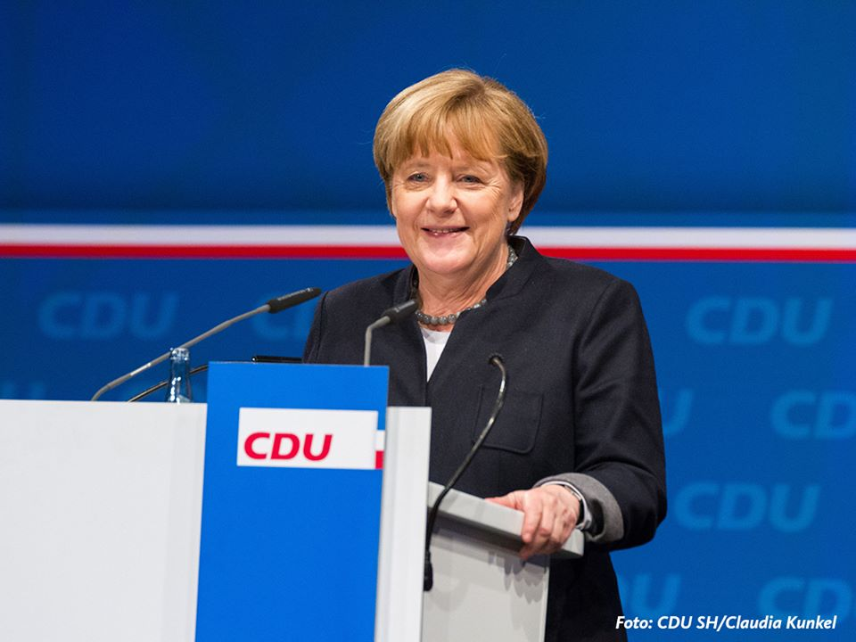 "German Chancellor Angela Merkel on Monday celebrated an encouraging win for her conservatives in a state election, declaring that her party has ""every chance"" in upcoming votes. Her centre-left challenger in Germany's national election later this year vowed not to be put off his stride by a deflating result.  (Photo: Angela Merkel/ Facebook)"