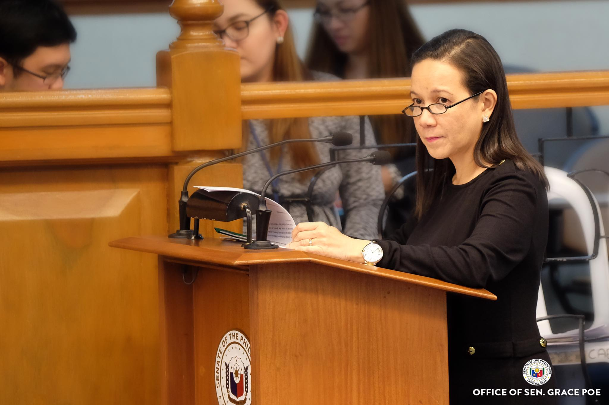 Before telecommunications giant Smart Communications could extend its franchise for another 25 years, Sen. Grace Poe on Monday said that they will first have to prove that they are subscribing to Philippine laws.  (Photo: Grace Poe/ Facebook)