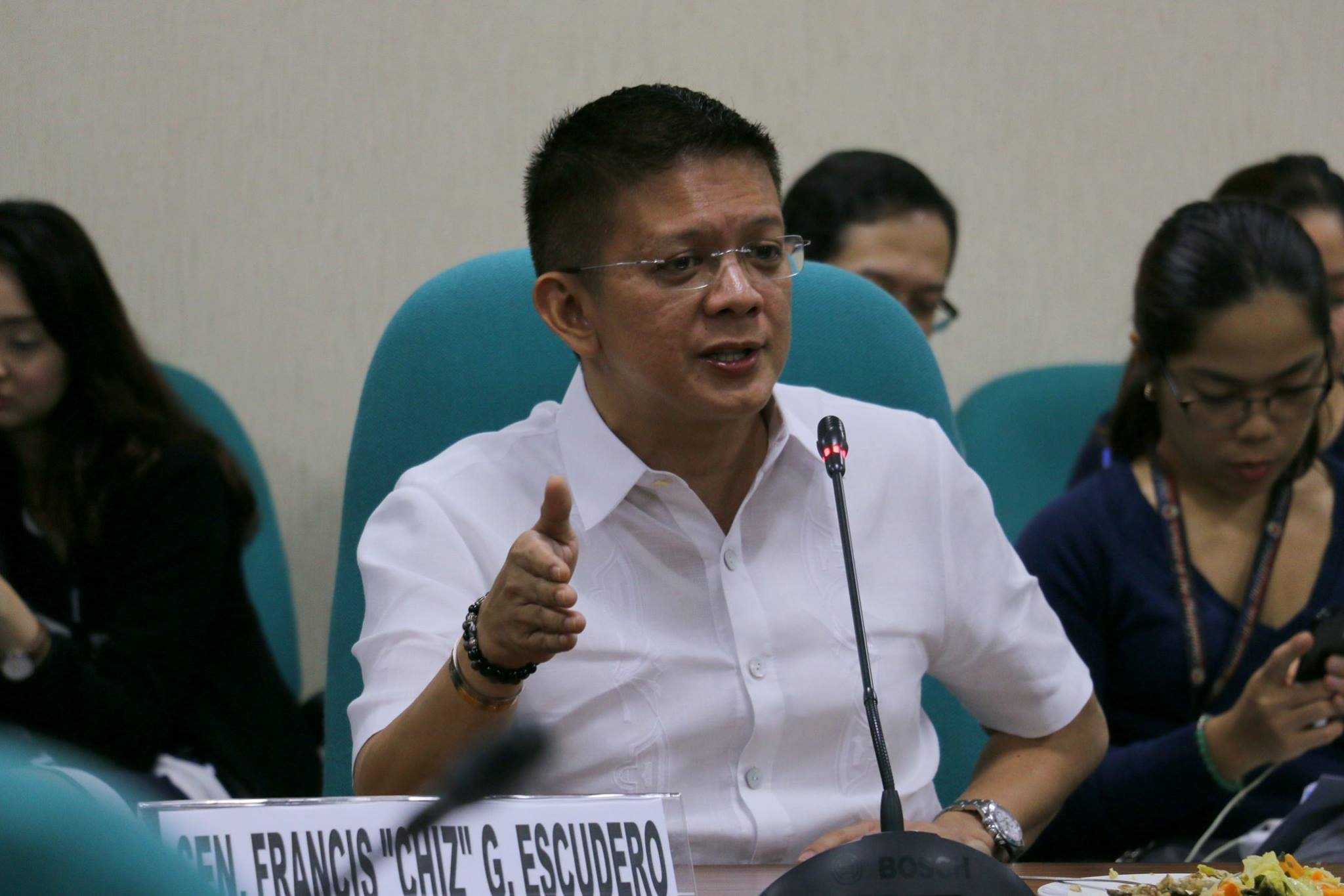 Sen. Francis Escudero on Wednesday said that he did not move to have the University of the Philippines (UP) offer Pres. Rodrigo Duterte an honorary doctorate degree. (Photo: Francis Chiz Escudero/Facebook)