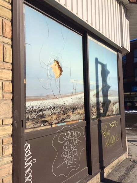 Montreal Mosque Vandalism  (Photo: Craig Sauvé/Facebook)