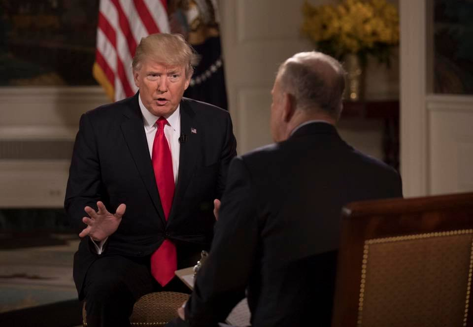 """President Donald Trump said he respects Vladimir Putin, and when told the Russian leader is """"a killer,"""" Trump said the United States has many of them. (Photo: Donald J. Trump/ Facebook)"""