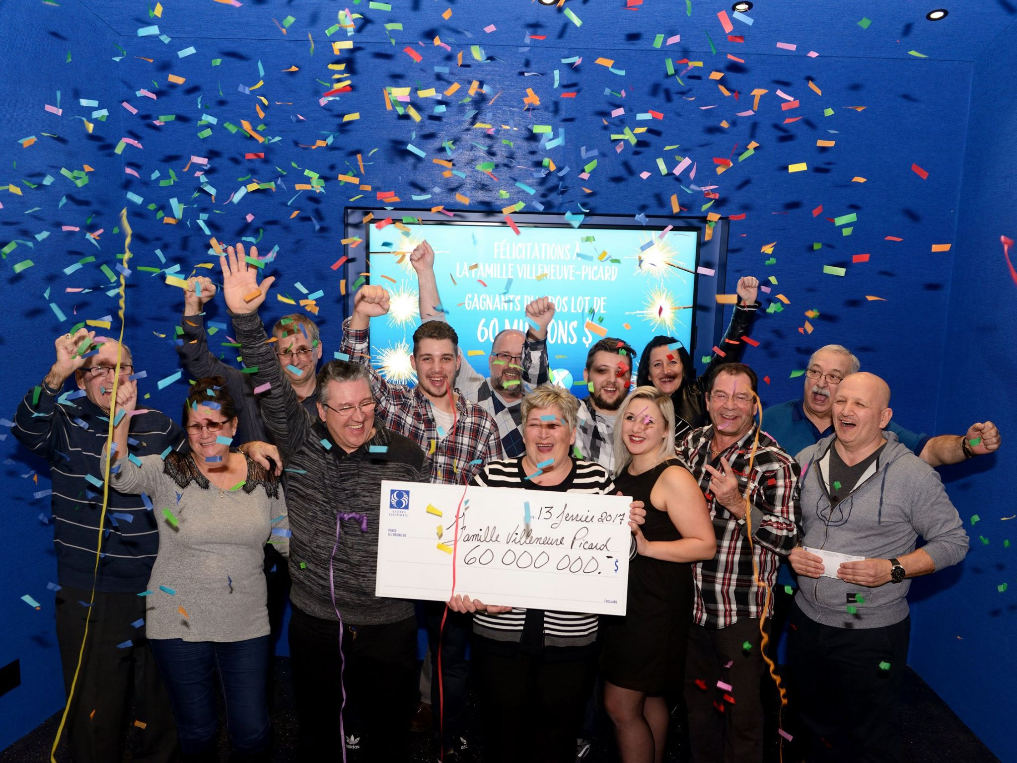 A Quebec couple who won $60 million in the lottery a few days ago say they are still in shock. (Photo: Info Planète Alma 104,5/Facebook)