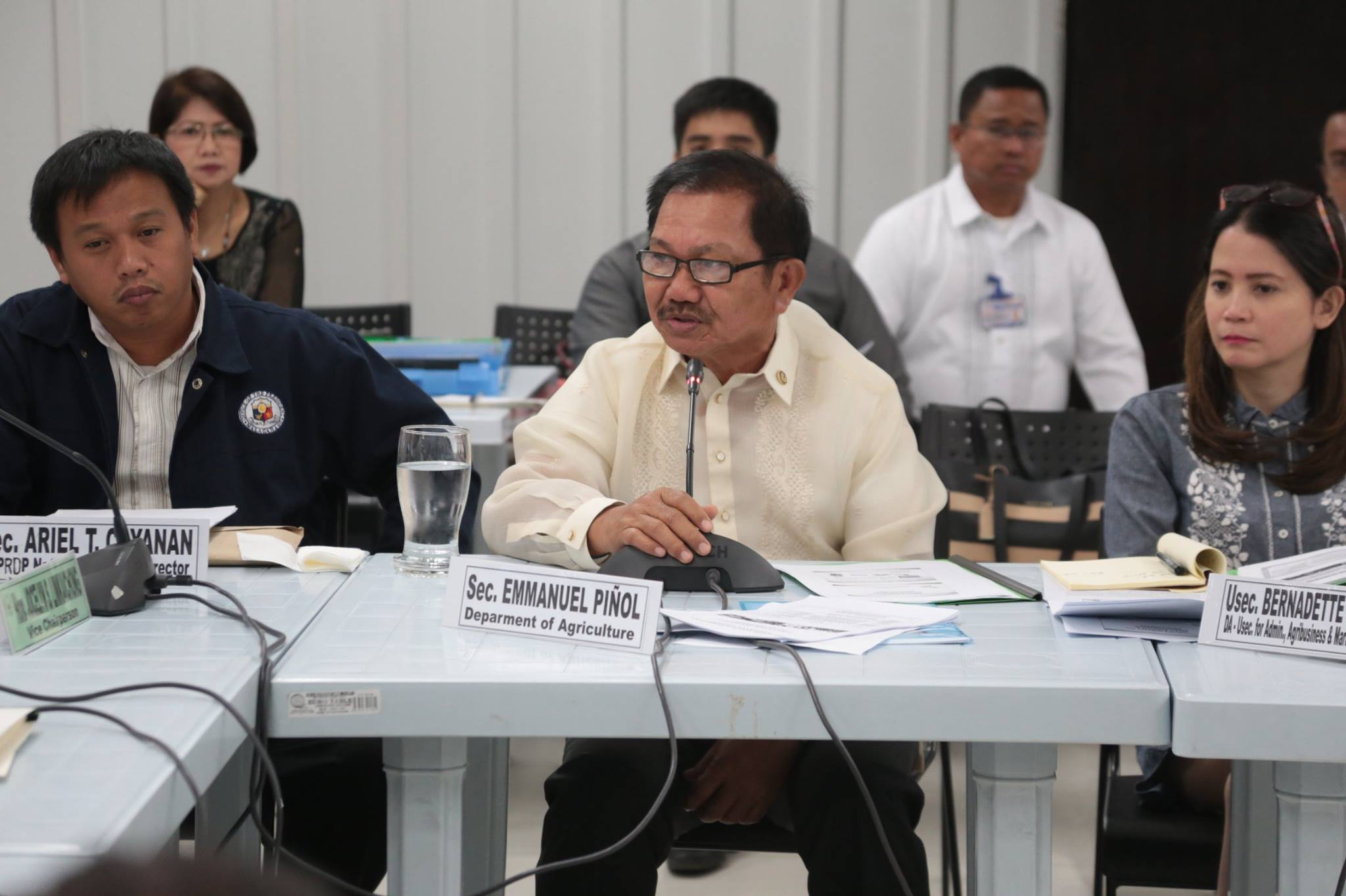 """By law, the DA is not allowed to directly release funds and use them for agricultural loans,"" Piñol said during the House of Representatives committee meeting on small business and entrepreneurship development held at the DA central office in Quezon City. (Photo: Department of Agriculture/ Facebook)"