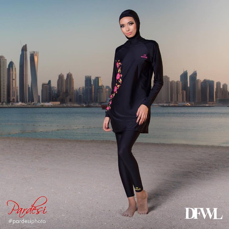 """""""Currently, the fastest growing market is the Muslim market. By 2030 every third person in the world will be a Muslim and that is a huge amount of people,"""" the organizer of the fashion show, Romanna Bint Abubaker said. (Photo: Dubai Fashion Week London/ Facebook)"""