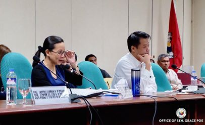 Poe, chair of the Senate Committee on Public Services that led an inquiry into the common station, said former Transport officials, kept the common station from being completed. (Photo: Grace Poe/ Facebook)