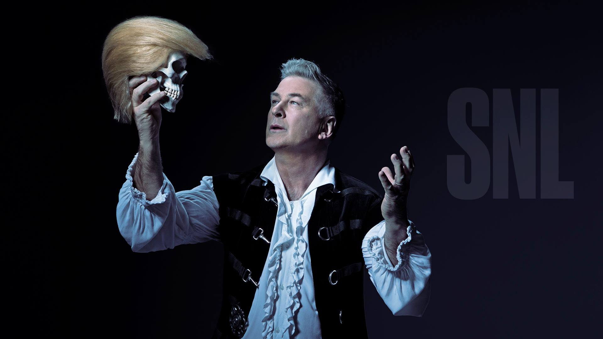 "Alec Baldwin, who has scored in guest shots on ""Saturday Night Live"" with his mocking impersonation of Donald Trump since the campaign's final weeks, presided Saturday night as guest host of the NBC comedy show, serving up yet another Trump masquerade. (Photo: Saturday Night Live/ Facebook)"