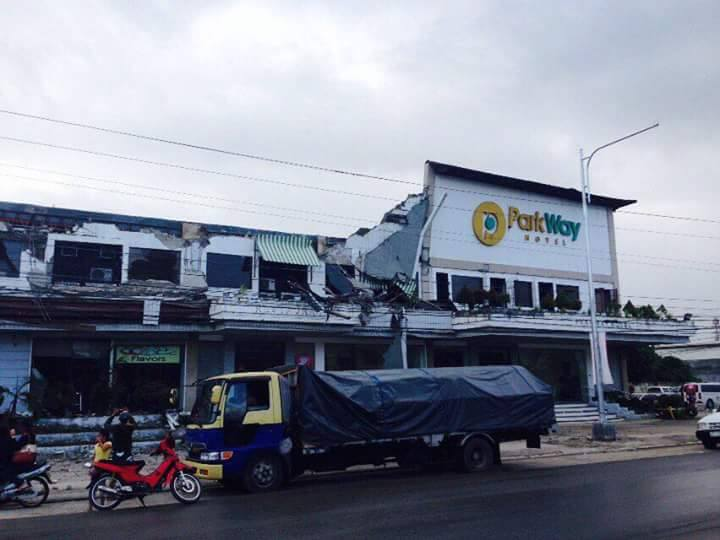 Assorted damage has been reported in Surigao City due to the 6.7-magnitude earthquake that struck the locality at 10:03 p.m. Friday. (Photo Surigao Islands/Facebook)