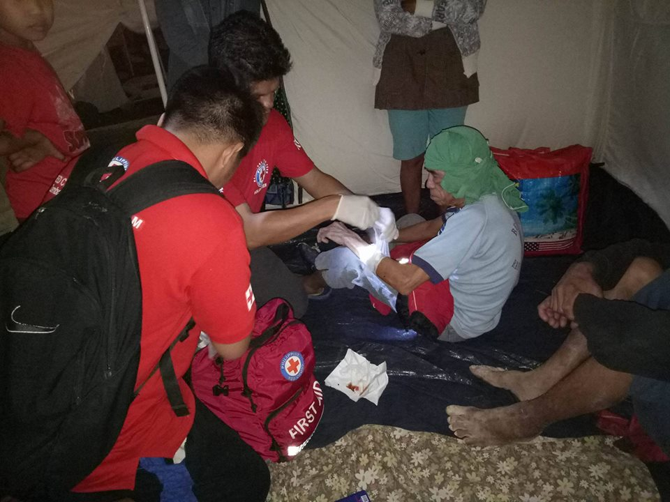 "The Philippine Red Cross (PRC) said Sunday its emergency responders and medical teams are stepping up efforts to help and reach the people of Surigao City which was hit by a magnitude-6.7 earthquake last February 10. (Photo"" Philippine Red Cross/ Facebook)"