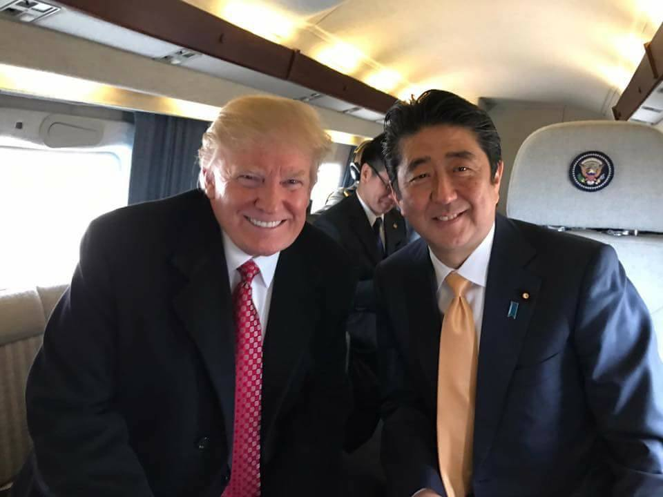 US President Donald Trump and Japan Prime Minister Shinzo Abe spent the weekend at the luxurious Mar-a-Lago resort in West Palm Beach where Trump reiterated America's commitment to Article 5 of the US-Japan security treaty, much to the chagrin of Chinese leadership. (Photo: President Donald J. Trump Fans'/Facebook)