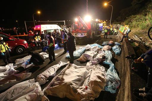 Investigators were looking into excessive speed as the possible cause of a bus crash in Taiwan that killed 32 people and injured several others in the island's worst road accident in more than three decades, an official said Tuesday. (Photo: Afrotainmenttv/Facebook)