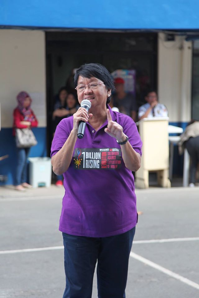 file: DSWD Secretary Judy M. Taguiwalo. (Photo: Department of Social Welfare and Development/ Facebook)