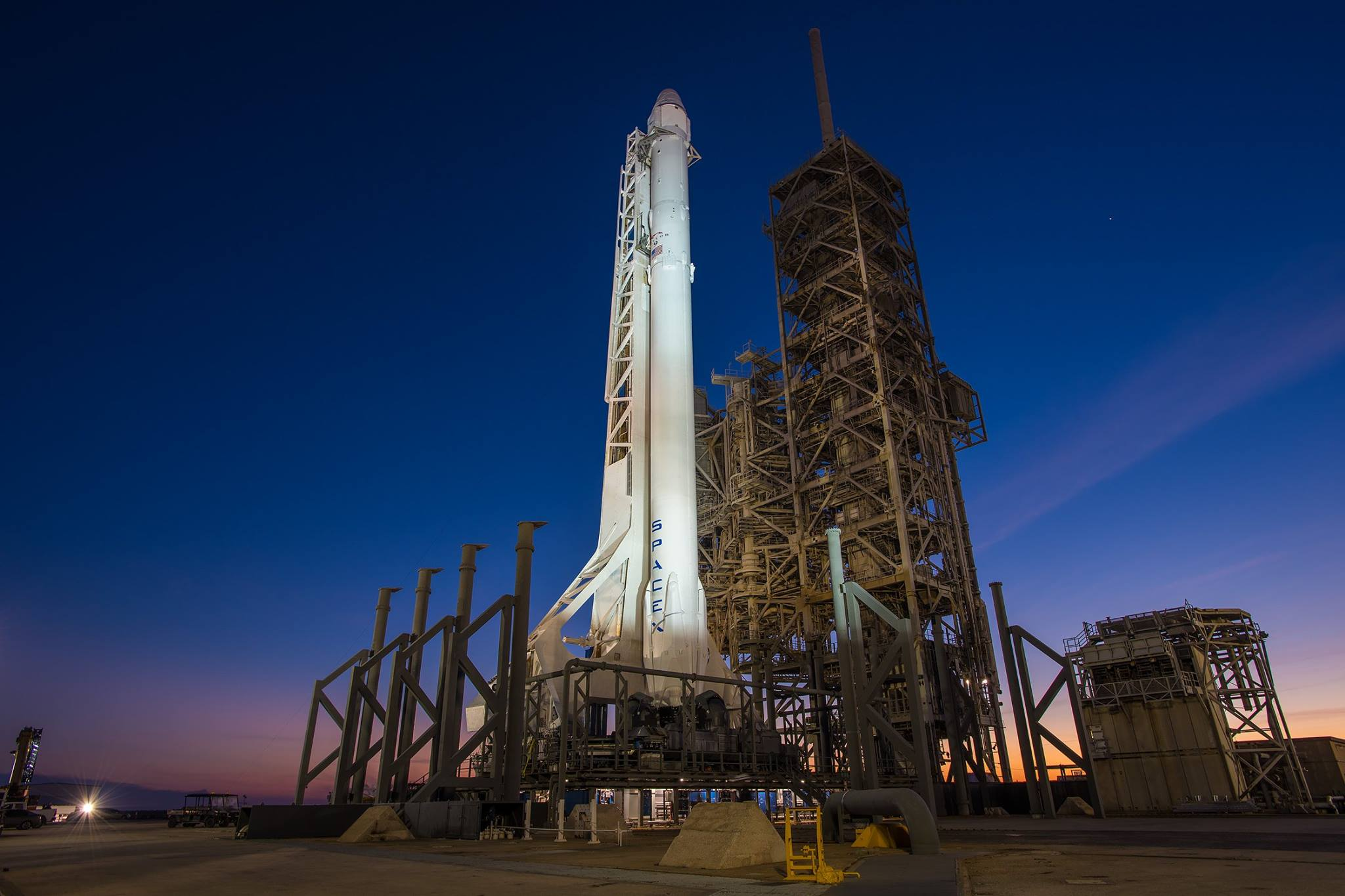 SpaceX said Monday it will fly two people to the moon next year, a feat not attempted since NASA's Apollo heyday close to half a century ago. (Photo: SpaceX/Facebook)