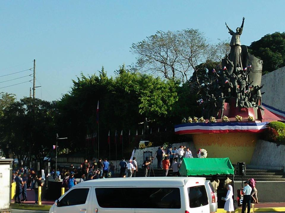"""EDSA lives on and its spirit should continue to inspire heroism in all of us for the greater glory of God and country."""" This was the message of President Rodrigo Roa Duterte, who was represented by Executive Secretary Salvador Medialdea, on Friday, the last day of the four-day celebration of the EDSA People Power Anniversary. (Photo: PTV/Julius Disamburun/Facebook)"""