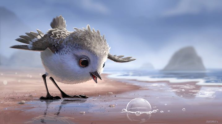 The six-minute film, produced by Pixar, depicts a baby bird and her mother trying to dodge waves while searching for food on the beach. (Photo: Disney Pixar/ Facebook)