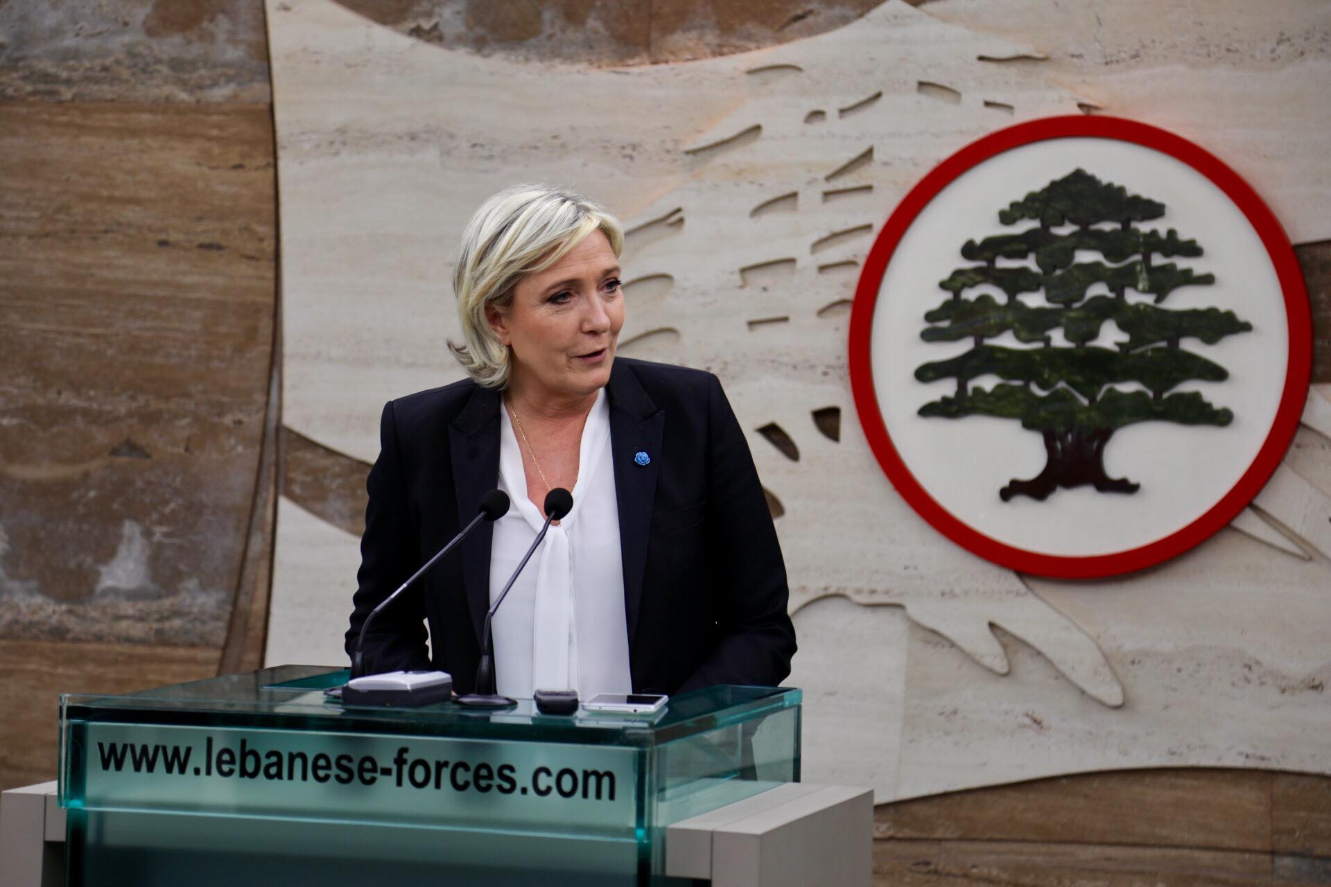France's far-right presidential candidate Marine Le Pen refused to don a headscarf for a meeting with Lebanon's top Sunni Muslim cleric on Tuesday and walked away from the scheduled appointment after a brief squabble at the entrance. (Photo: Marine Le Pen/Facebook)
