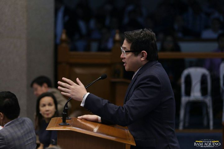 Sen. Franklin Drilon was ousted as Senate President Pro-Tempore while Senators Risa Hontiveros, Francis Pangilinan and Paolo Benigno Aquino IV were ousted as chairs of the Health, Agriculture and Education committees. (Photo: Bam Aquino/ Facebook)