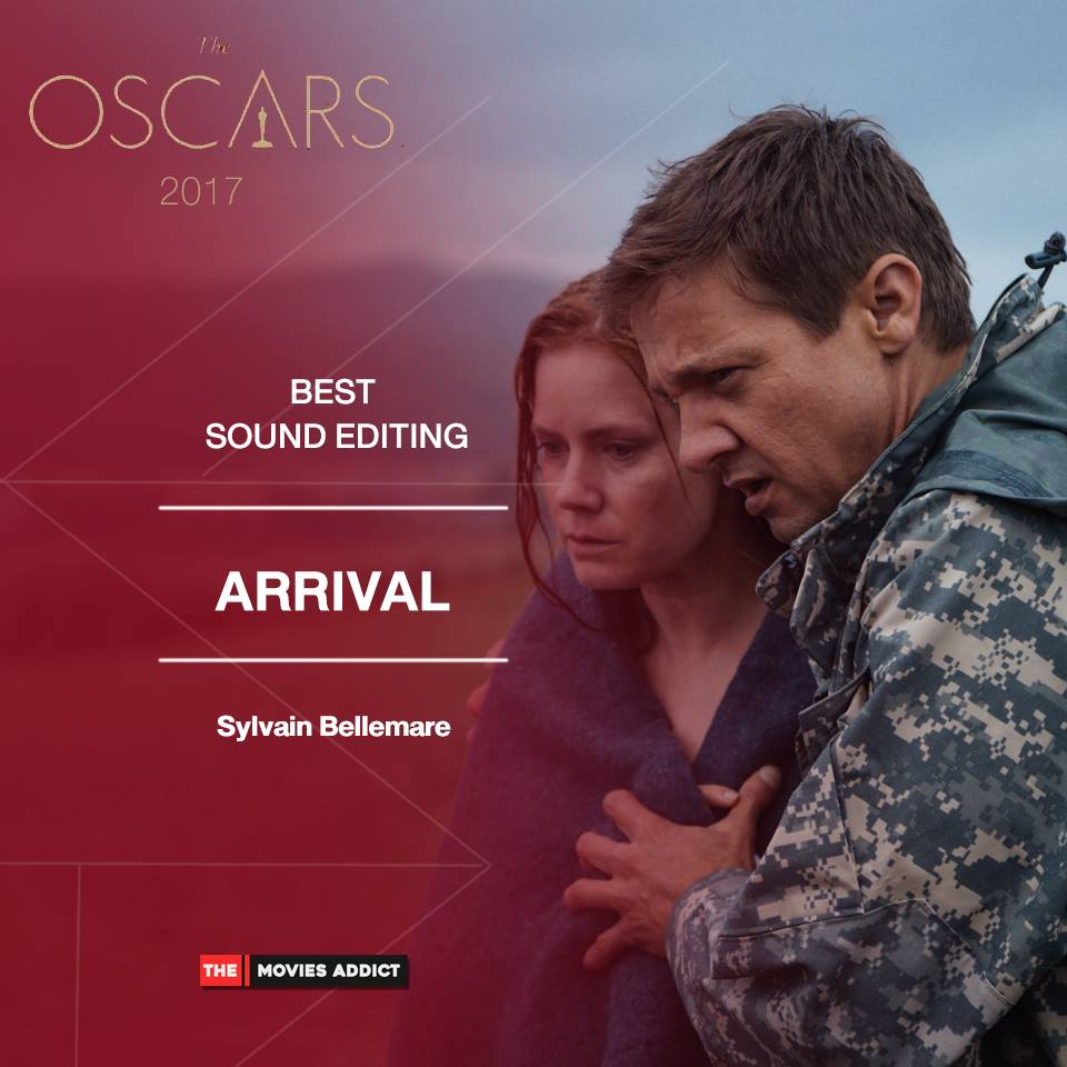 "Montreal's Sylvain Bellemare has won the best sound editing Oscar for ""Arrival."" (Photo: The Movies Addict/ Facebook)"