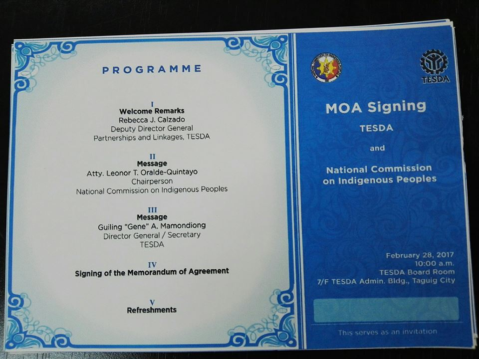 Aside from Mamondiong and Oralde-Quintayo, other officials who attended the MOA signing were TESDA Deputy Director General for Partnership and Linkages Rebecca Calzado and other officials of both agencies. (Photo: TESDA/ Facebook)