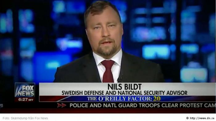 "A trans-Atlantic wave of puzzlement is rippling across Sweden for the second time in a week, after a prominent Fox News program featured a ""Swedish defence and national security advisor"" who's unknown to the country's military and foreign-affairs officials. (Photo: Caminho Politico/Facebook)"