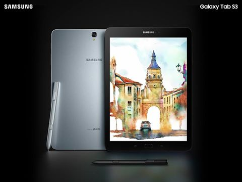 The new Galaxy Tab S3, running Google's Android system, will have a glass back and metal frame, borrowing designs from Samsung's smartphones. (Photo: Samsung Mobile/ Facebook)