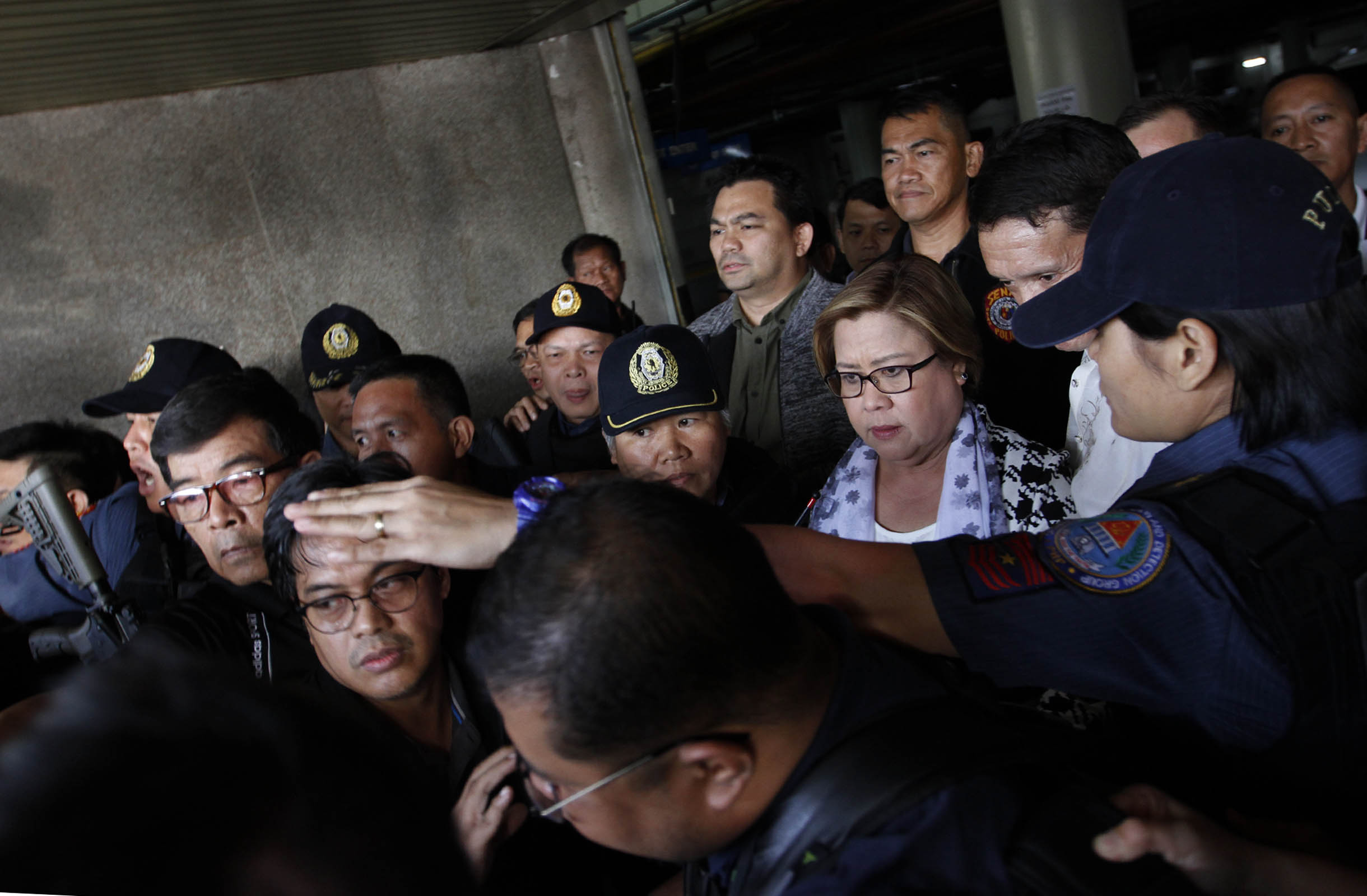 Interior Secretary Ismael Sueno has ordered Philippine National Police (PNP) chief, Dir. Gen. Ronald dela Rosa, to ensure the safety of Senator Leila de Lima at the police headquarters.  (PNA photo by Avito C. Dalan)